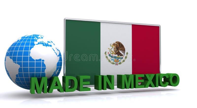 Gemaakt in Mexico vector illustratie