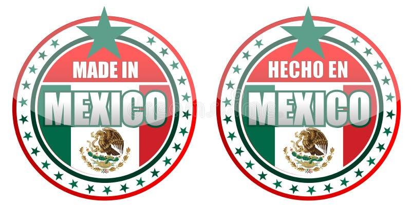 Gemaakt in Mexico royalty-vrije illustratie