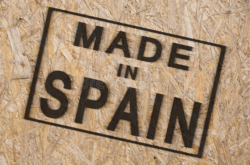 Gemaakt in Spanje stock afbeelding