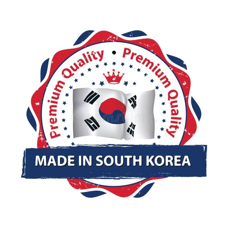 Gemaakt in Zuid-Korea, Premiekwaliteit vector illustratie