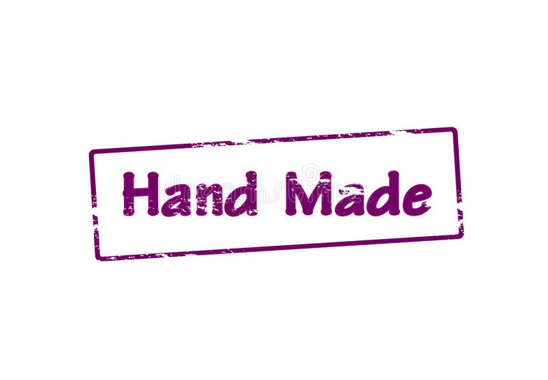 Gemaakte hand - stock illustratie