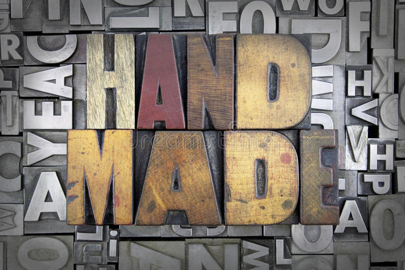 Gemaakte hand - royalty-vrije stock afbeeldingen