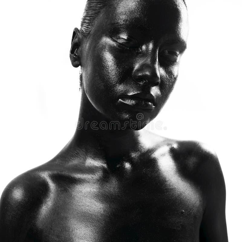 Gemaakte omhoog zwarte stock foto