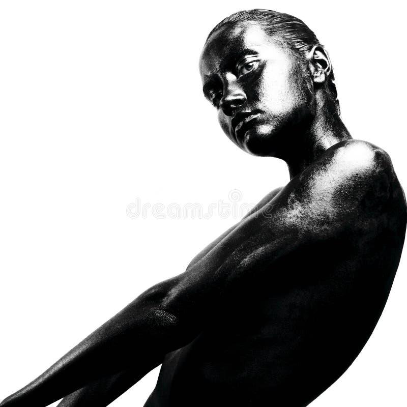 Gemaakte omhoog zwarte royalty-vrije stock foto