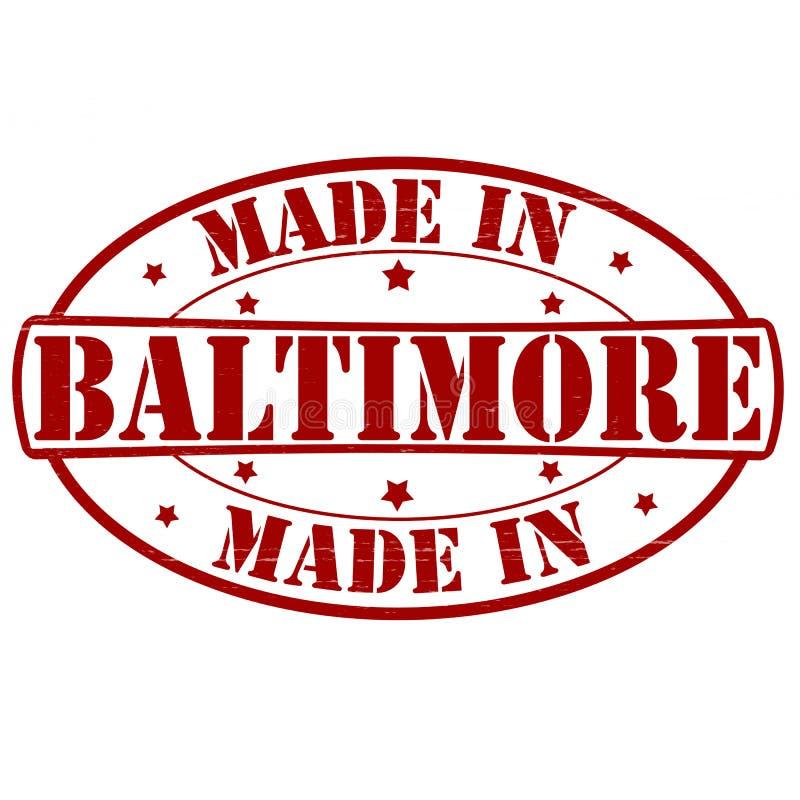 Gemacht in Baltimore vektor abbildung