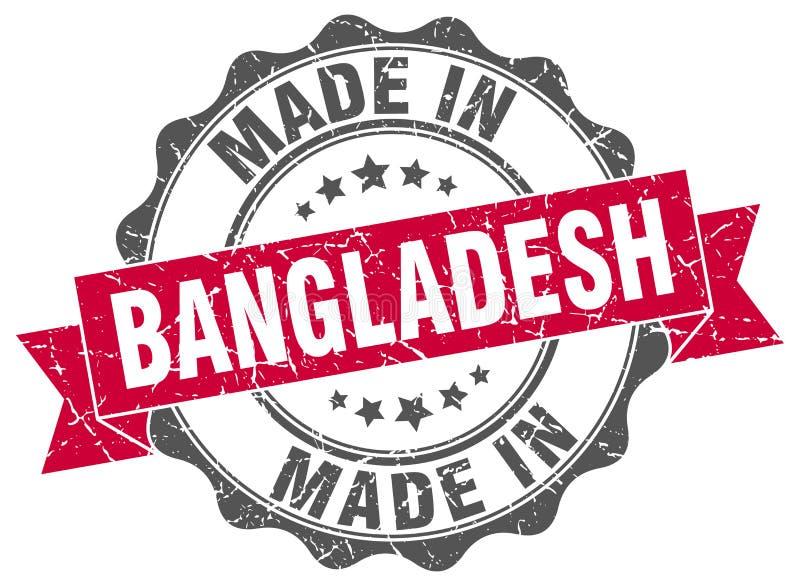 gemacht in Bangladesch-Dichtung vektor abbildung