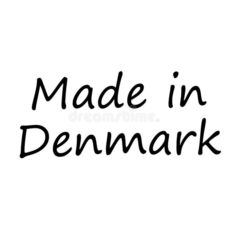 GEMACHT IN DÄNEMARK-Stempel auf weißem Hintergrund vektor abbildung