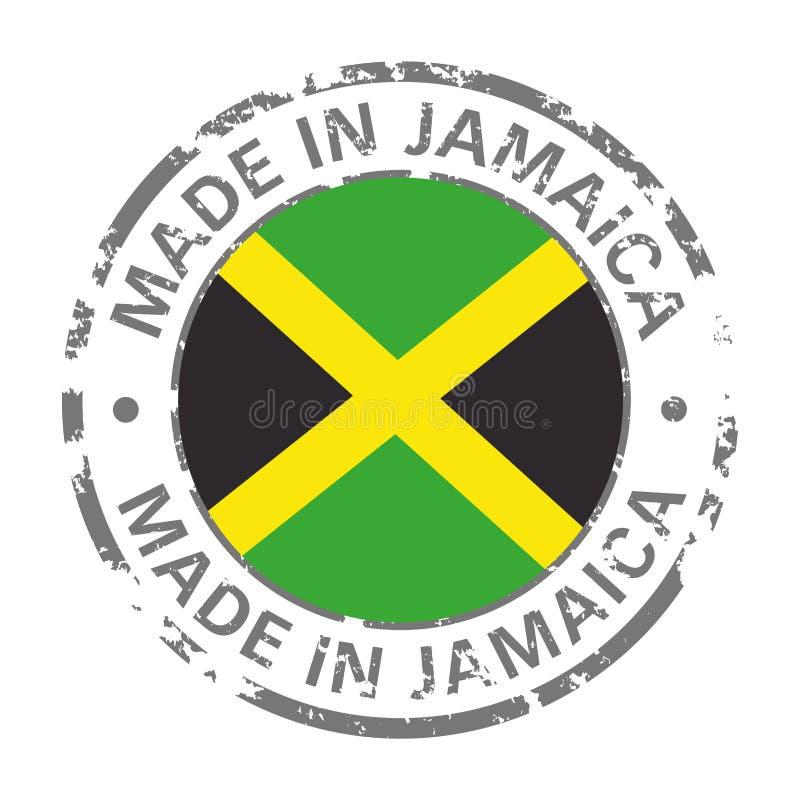 Gemacht in der Jamaika-Flaggenschmutzikone lizenzfreie abbildung