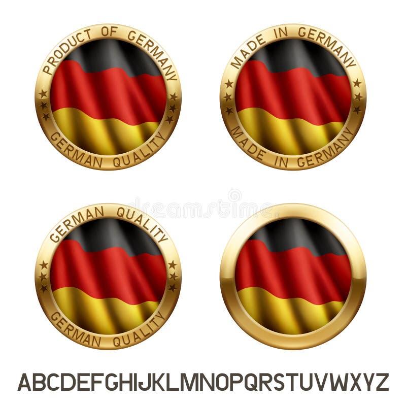 Gemacht in Deutschland-Logo lizenzfreie abbildung
