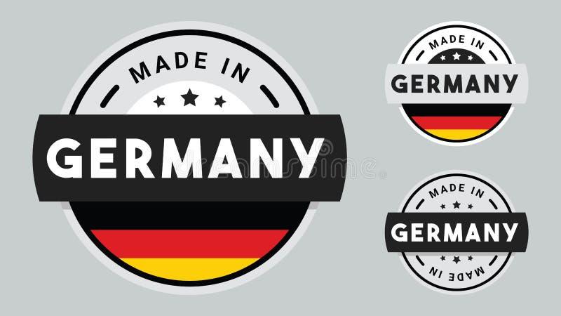 Gemacht in Deutschland-Sammlung Ausweisen stock abbildung