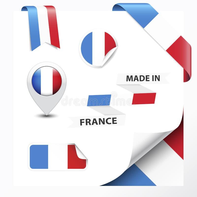 Gemacht in Frankreich-Sammlung vektor abbildung