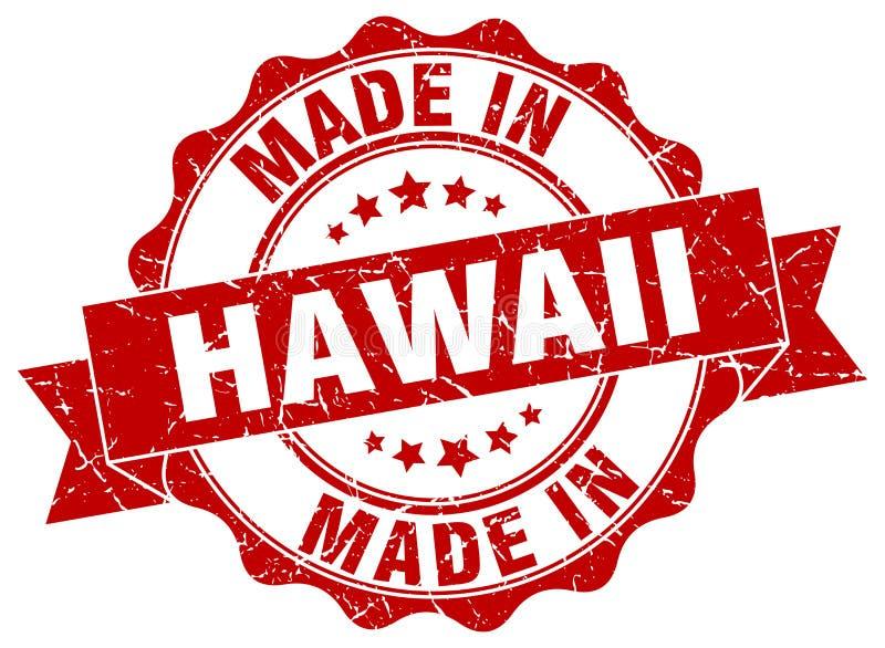 gemacht in Hawaii-Dichtung lizenzfreie abbildung