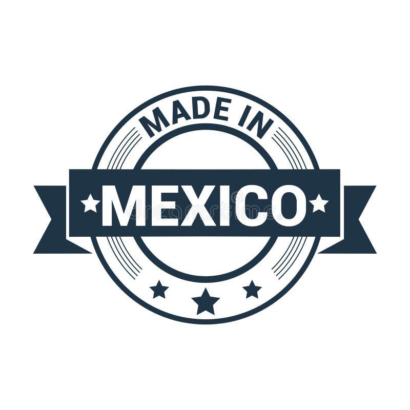 Gemacht im Mexiko-Flaggendesignvektor lizenzfreie abbildung
