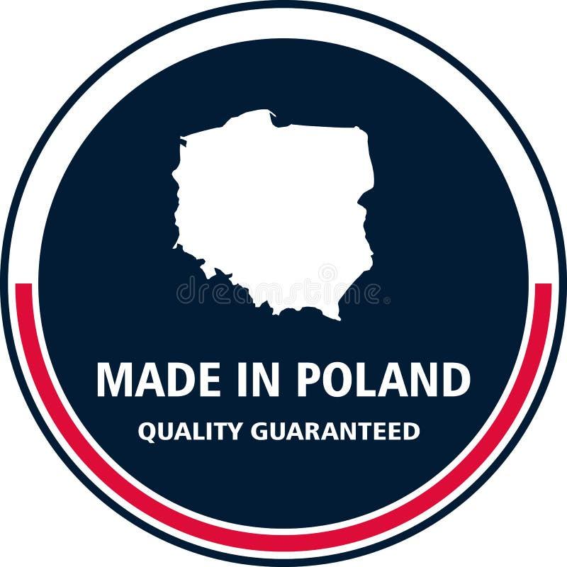 Gemacht im Polen-Qualitätsstempel Auch im corel abgehobenen Betrag stock abbildung