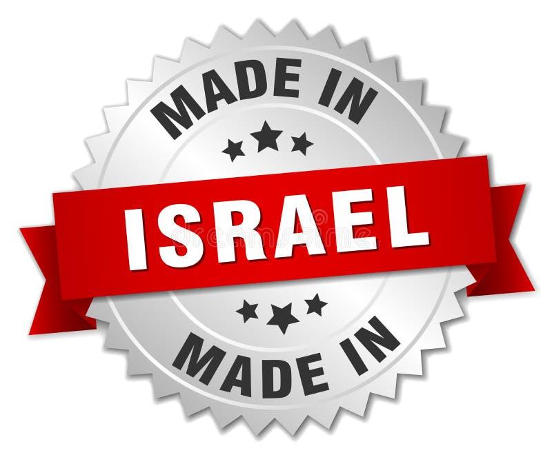 gemacht in Israel-Ausweis stock abbildung