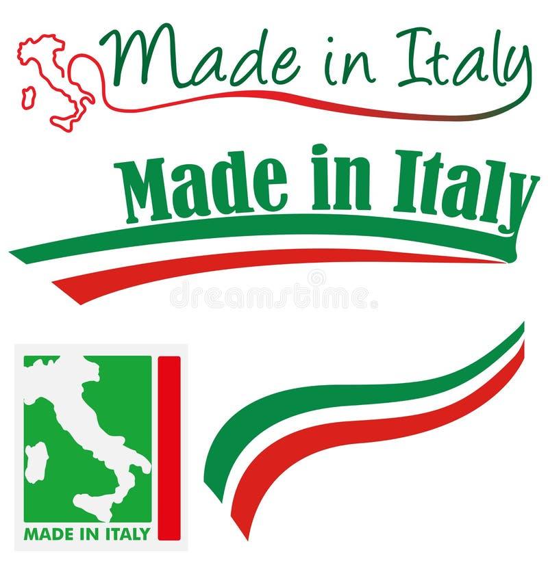 Gemacht in Italien-Satz lizenzfreie abbildung