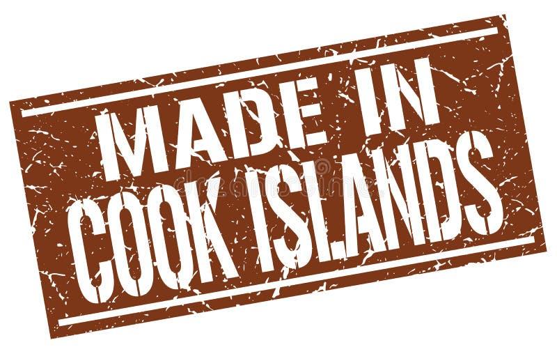gemacht in Koch-Islands-Stempel lizenzfreie abbildung