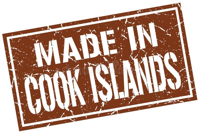 gemacht in Koch-Islands-Stempel stock abbildung