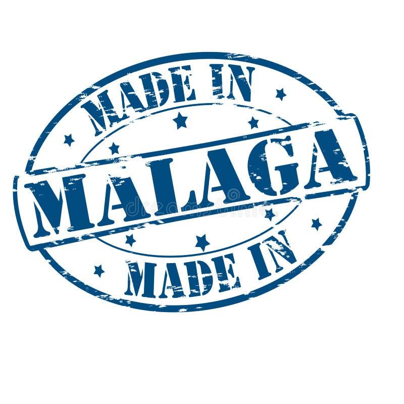 Gemacht in Màlaga lizenzfreie abbildung
