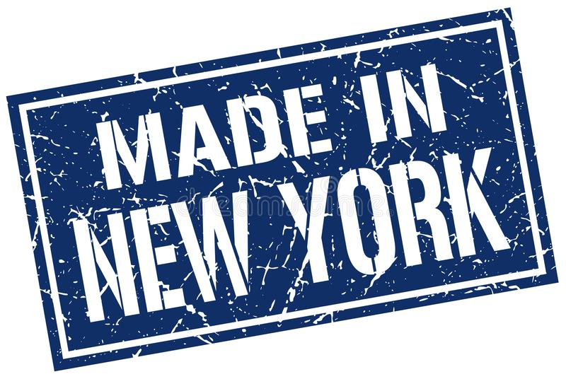 Gemacht in New- Yorkstempel lizenzfreie abbildung