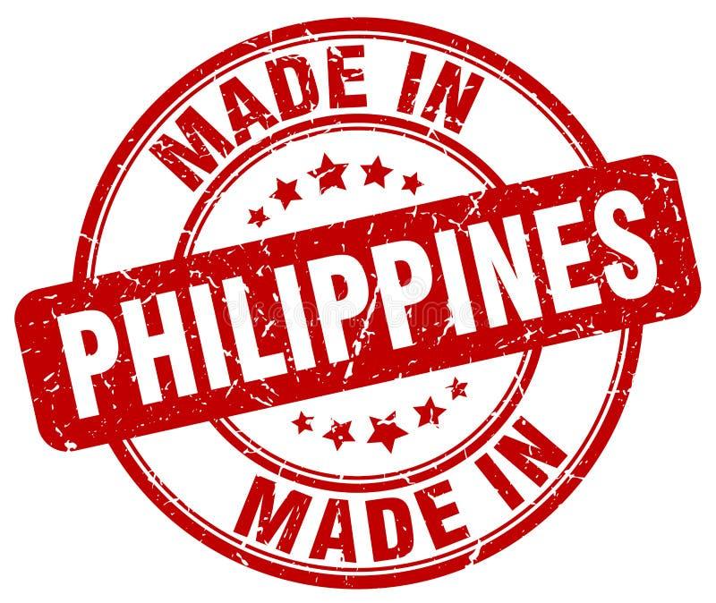 gemacht in Philippinen-Stempel lizenzfreie abbildung