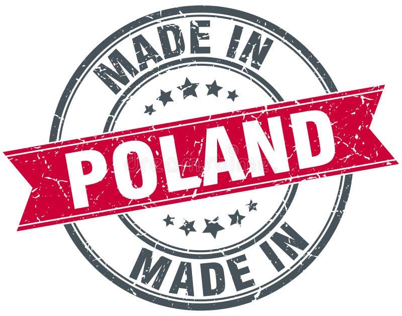 Gemacht in Polen-Stempel lizenzfreie abbildung
