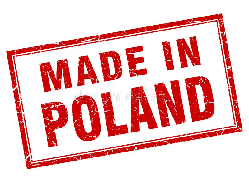Gemacht in Polen-Stempel stock abbildung