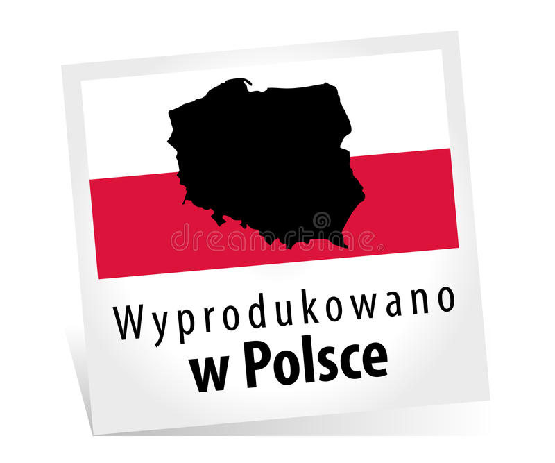 Gemacht in Polen - Wyprodukowano w Polsce stock abbildung