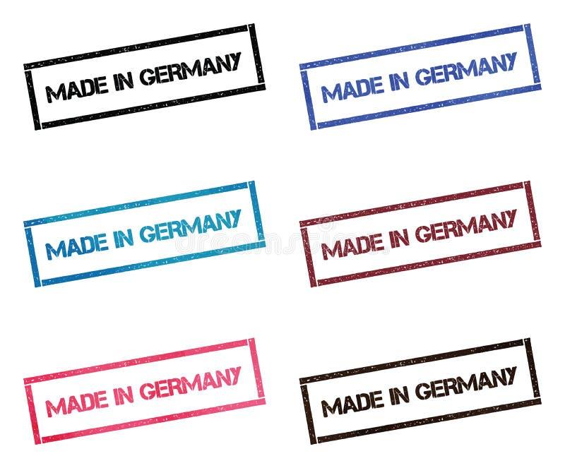 Gemacht in rechteckiger Briefmarkensammlung Deutschlands stock abbildung