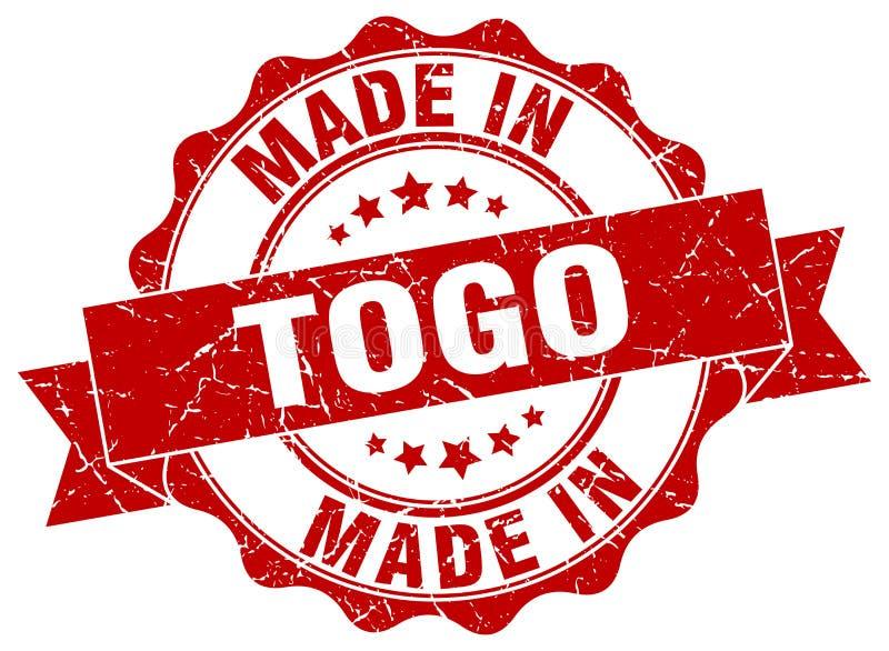 gemacht in Togo-Dichtung lizenzfreie abbildung