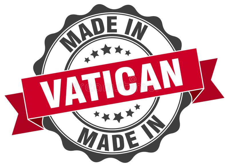 gemacht in Vatikan-Dichtung stock abbildung