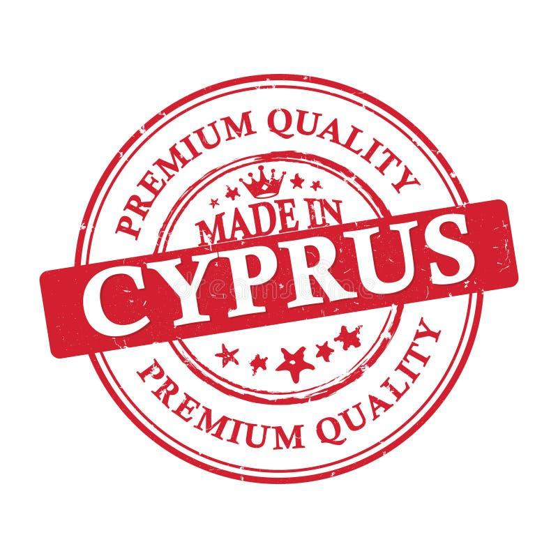 Gemacht in Zypern, bedruckbarer Aufkleber des erstklassigen Qualitätsschmutzes vektor abbildung