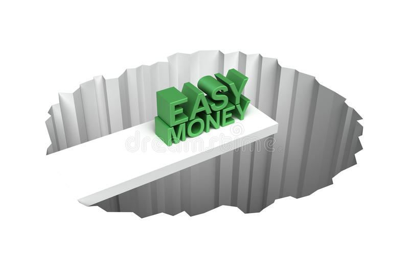 Gemakkelijk geldrisico royalty-vrije illustratie