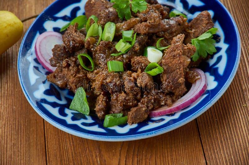 Gemakkelijk Knapperig Mongools Rundvlees royalty-vrije stock foto's
