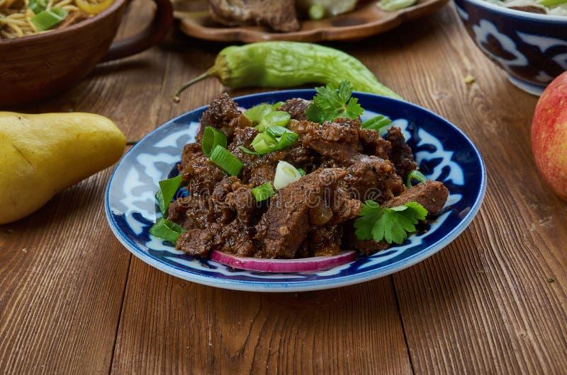 Gemakkelijk Knapperig Mongools Rundvlees stock foto