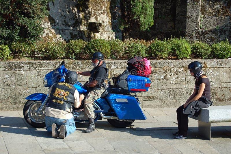 Gemakkelijke ruiters - Santiago de Compostela royalty-vrije stock foto