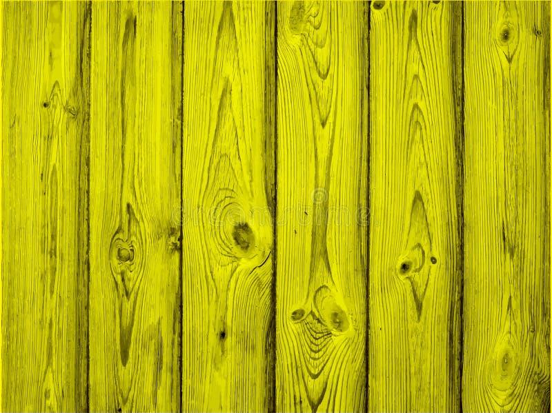 Gemalte alte hölzerne Wand Gelber Hintergrund, Vektor lizenzfreie abbildung