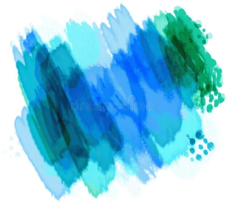 Gemalte Aquarelle stock abbildung