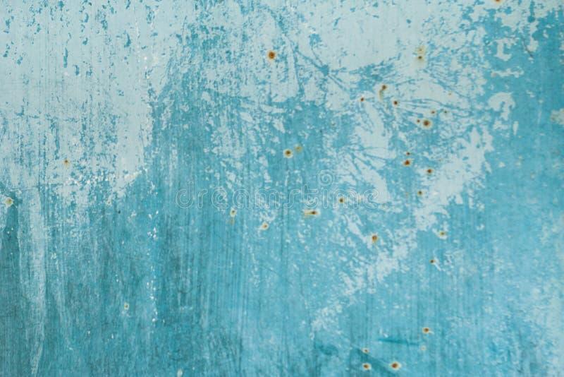 Gemalte Beschaffenheit des Schmutzes Metall Alte gemalte Metalloberfläche mit Rost und nassem Fleck stockbild