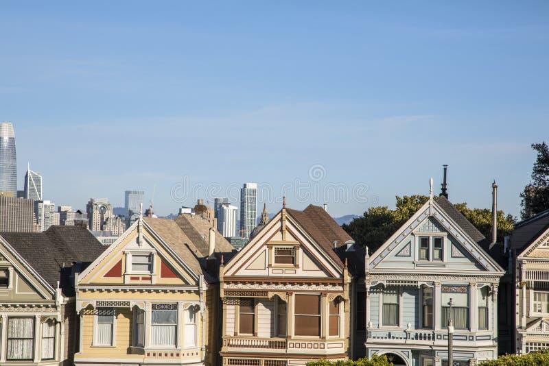 Gemalte Damen, San Francisco lizenzfreie stockfotos