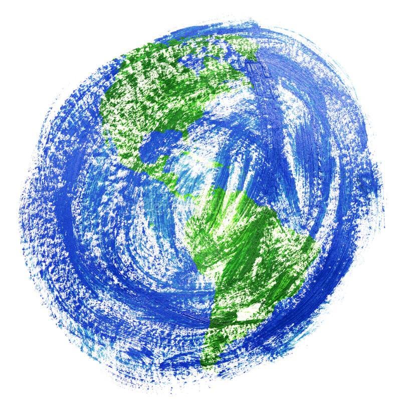 Gemalte Erde stockfotos