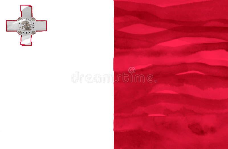 Gemalte Flagge von Malta lizenzfreie stockbilder