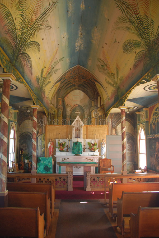 Gemalte Kirche lizenzfreie stockfotos