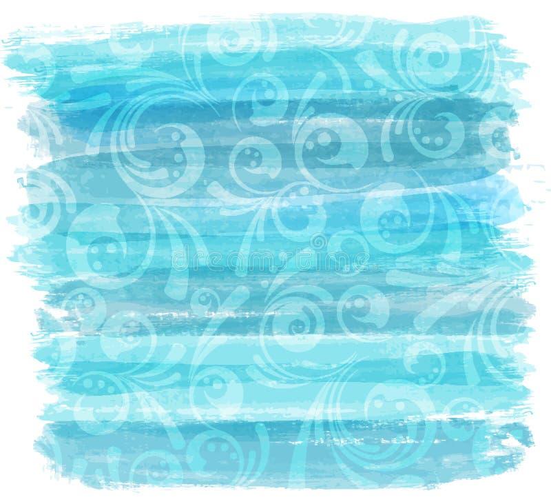 Gemalte Linien nachgemachter Hintergrund mit Blumen lizenzfreie abbildung