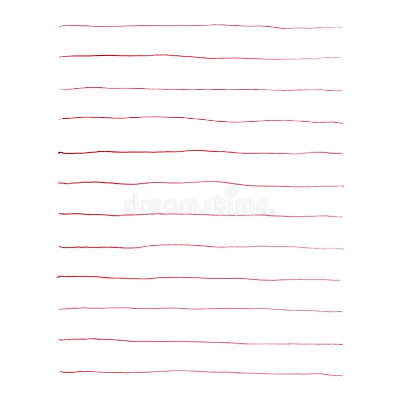 Gemalte rote Linien stock abbildung