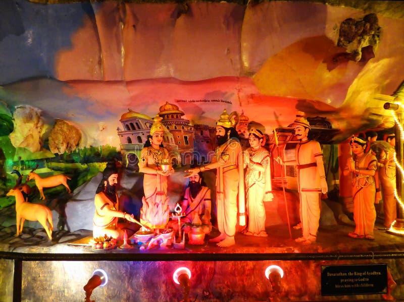 Gemalte Statuen des Hinduismus Gott stockfoto
