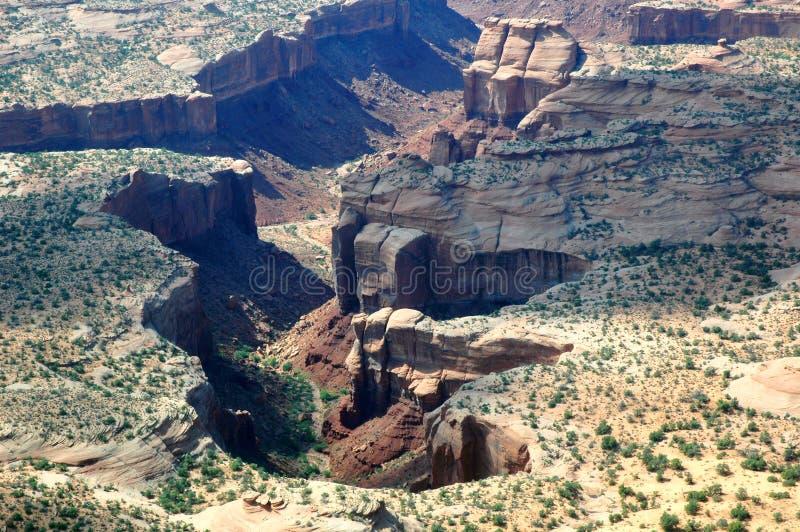 Gemalte Wüste in Arizona, USA gesehen vom Flugzeug stockfotos
