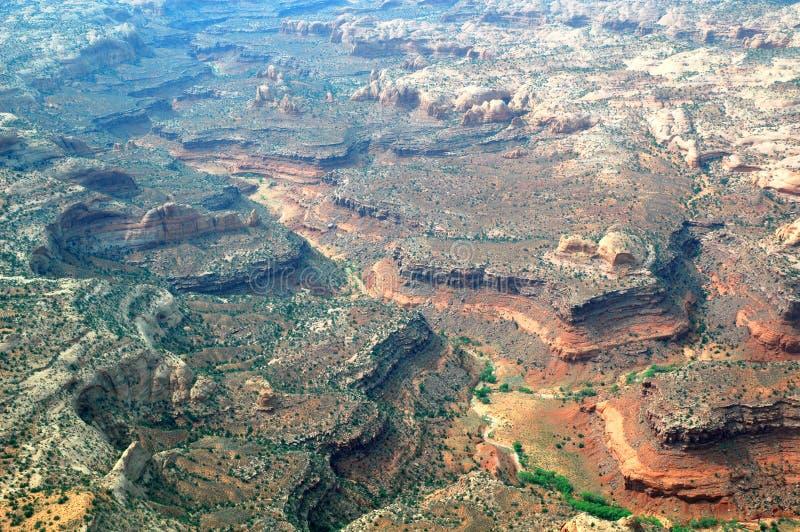 Gemalte Wüste in Arizona, USA gesehen vom Flugzeug lizenzfreie stockfotografie