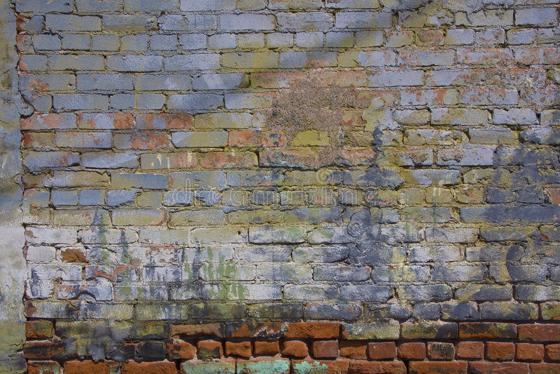 Gemalte Wand stockfotografie