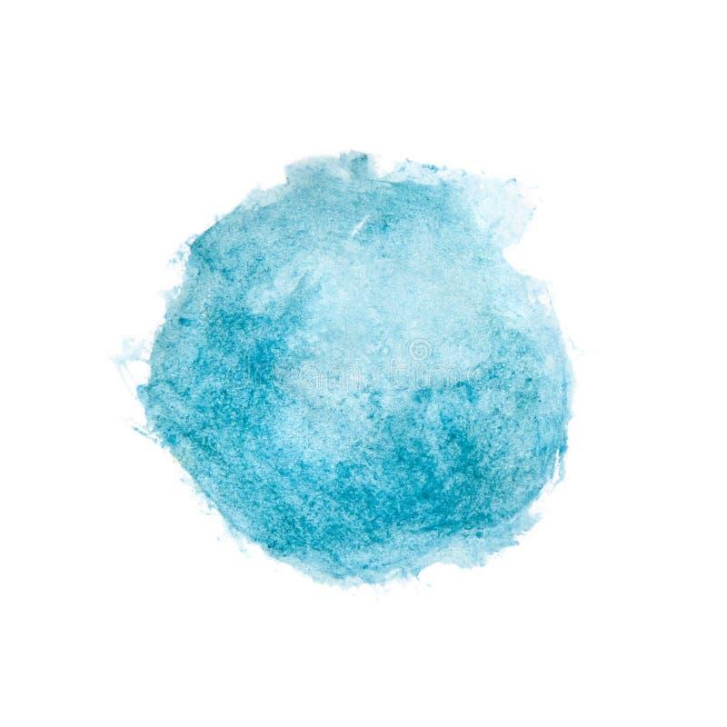 Gemalter Kreis des Watercolour Blau vektor abbildung